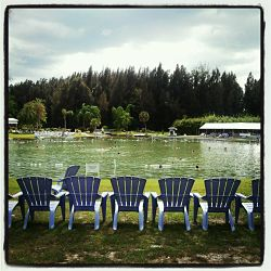 Chairs are provided for guests at the Warm Mineral Springs.