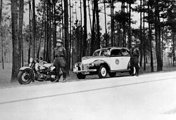 Two unidentified troopers on the side of the road circa 1941. Photo: Florida Memory Project