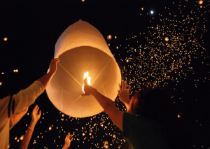 Aerial luminaries have gained popularity in the United States and are sometimes released during weddings and other events. Islander photo: courtesy National Association of Fire Marshals