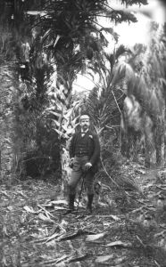 John Hamilton Gillespie poses under a large palm. Photo: State Archives of Florida